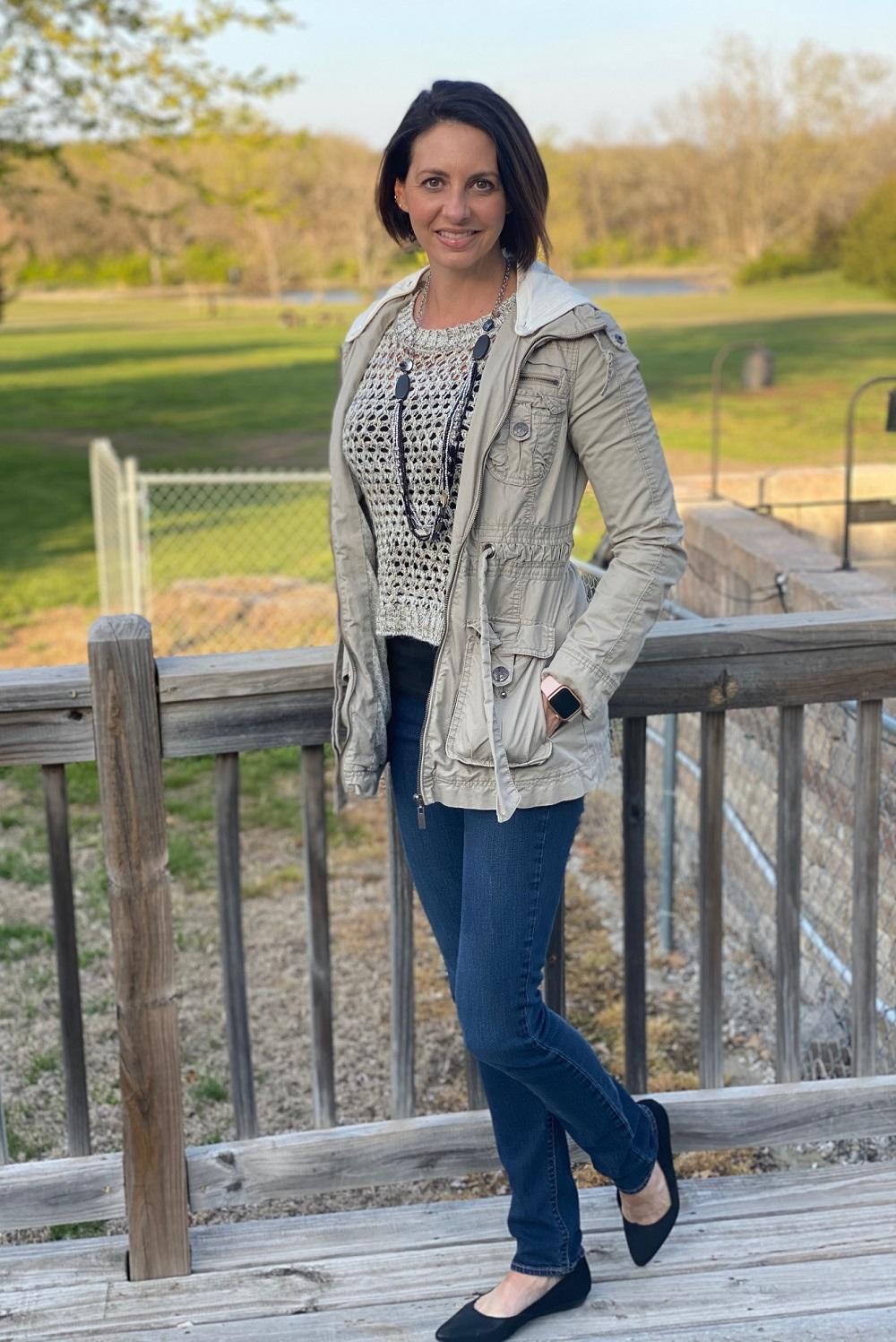 workwear neutral sweater