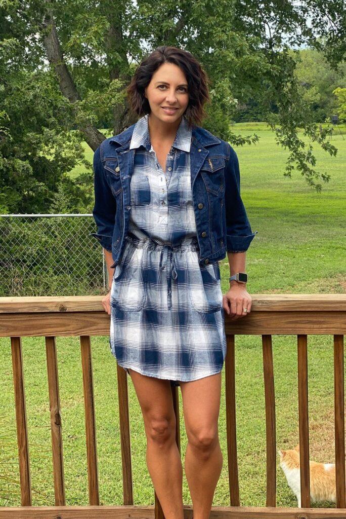 workwear flannel dress 3