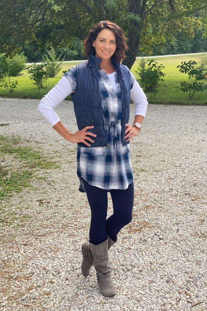 workwear flannel dress 1